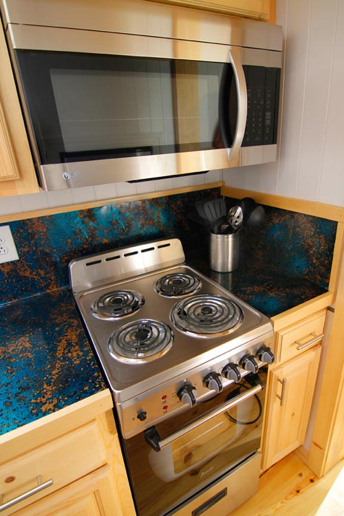 Electric Range - Blue Belle by Bear's Tiny Homes
