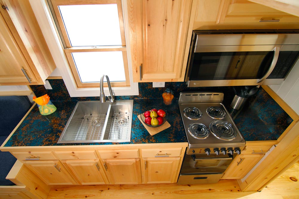 Kitchen - Blue Belle by Bear's Tiny Homes