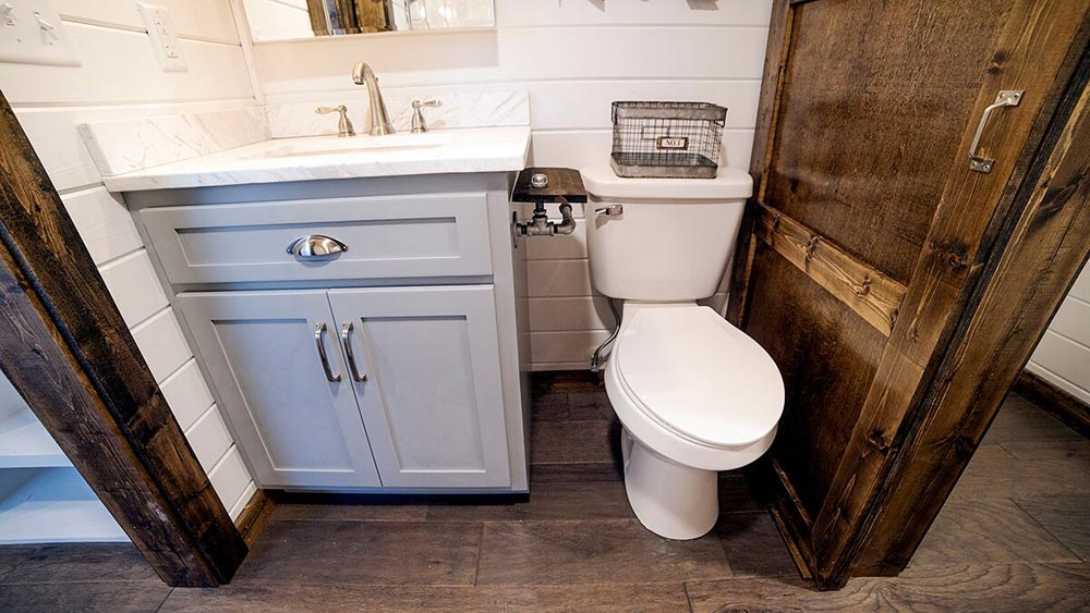 Vanity & Toilet - Blue Moon by Harmony Tiny Homes