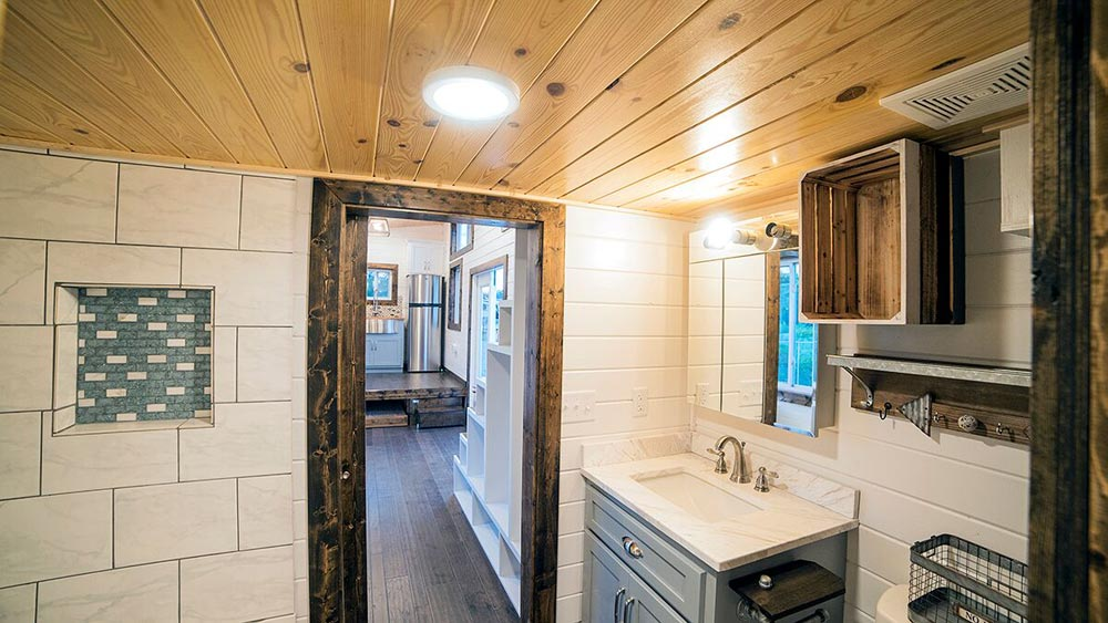 Bathroom Door - Blue Moon by Harmony Tiny Homes
