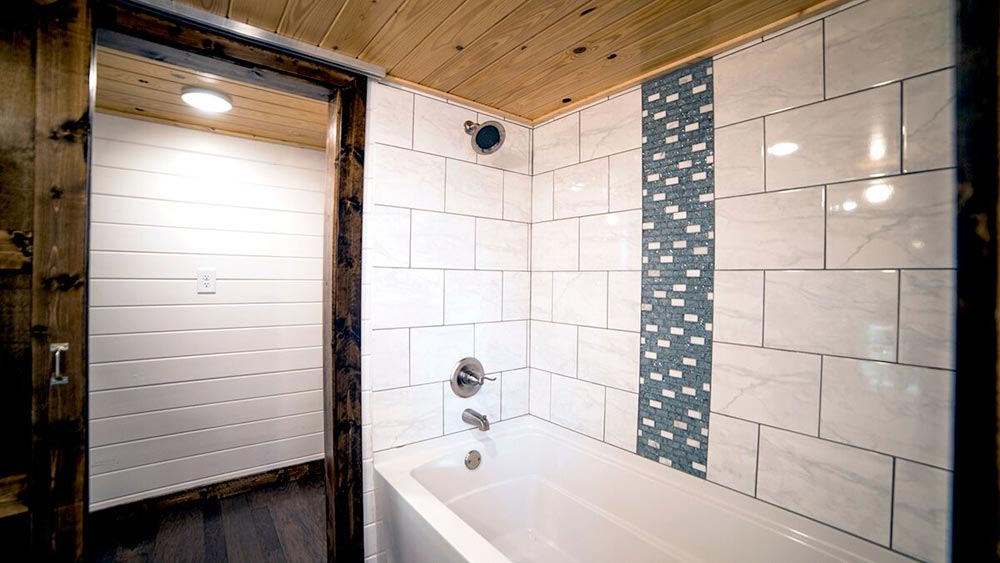 Tile Bathtub - Blue Moon by Harmony Tiny Homes