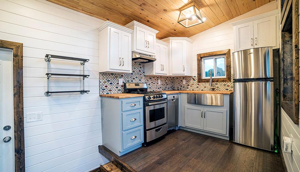 Kitchen - Blue Moon by Harmony Tiny Homes