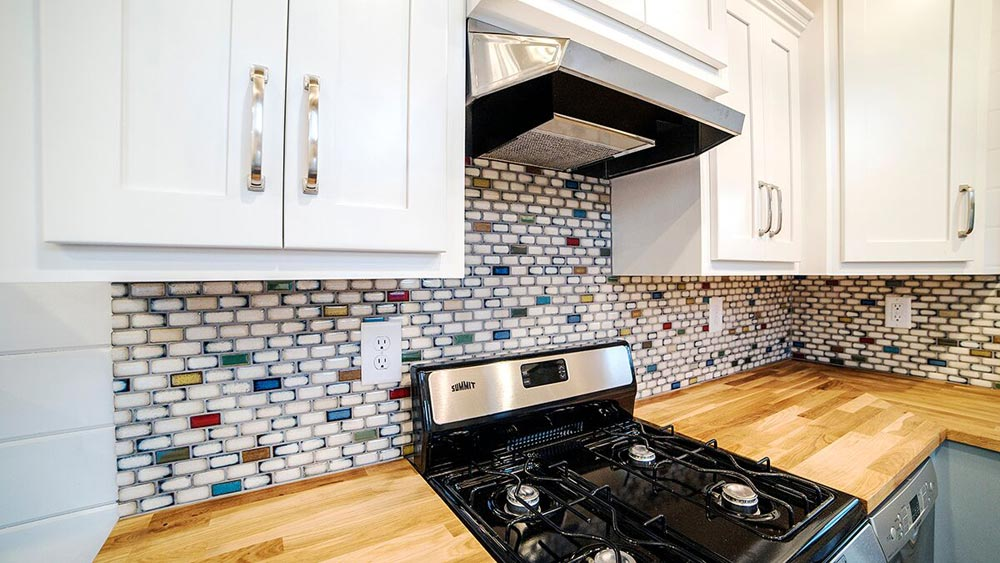 Tile Backsplash - Blue Moon by Harmony Tiny Homes