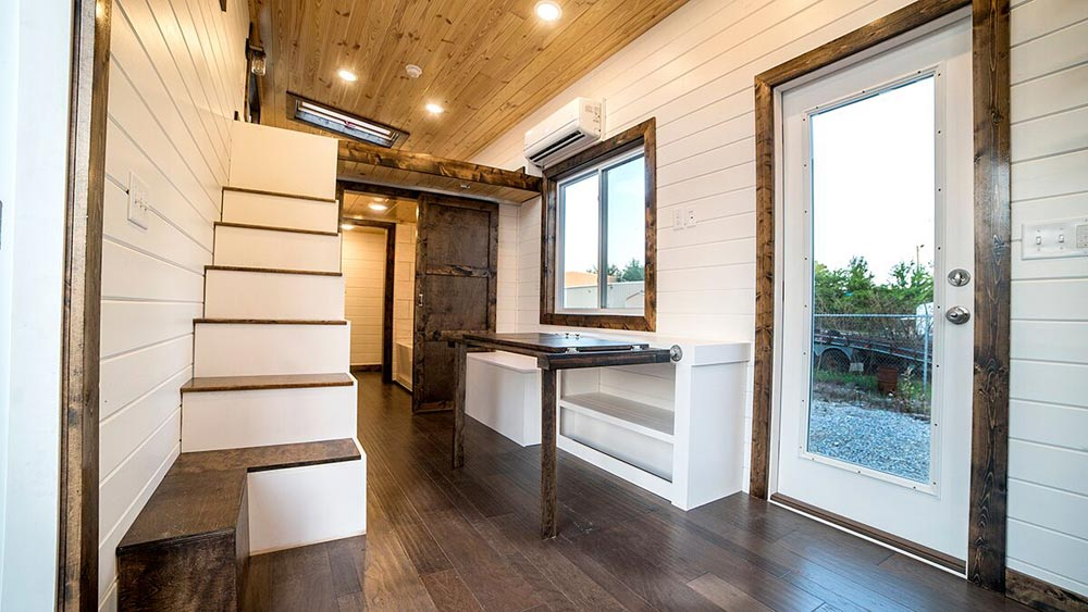 Stairs & Fold Down Table - Blue Moon by Harmony Tiny Homes