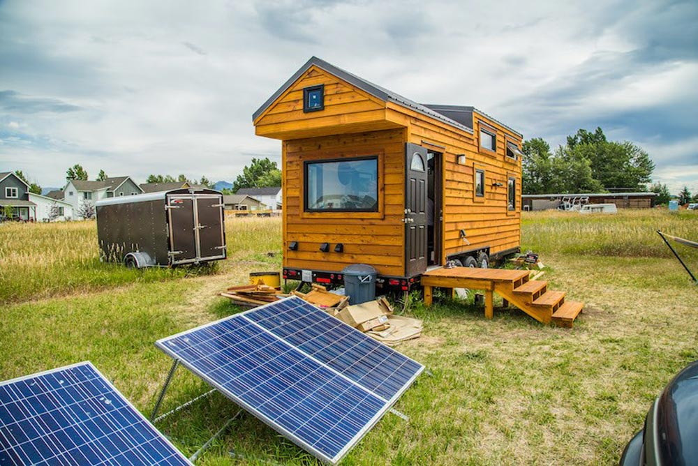 Bozeman off grid tiny house tiny living for Cost to build a house in bozeman mt