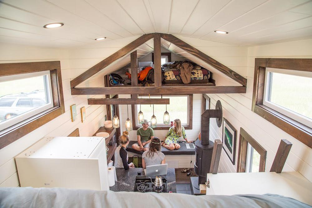 View From Loft - Bozeman Off-Grid Tiny House