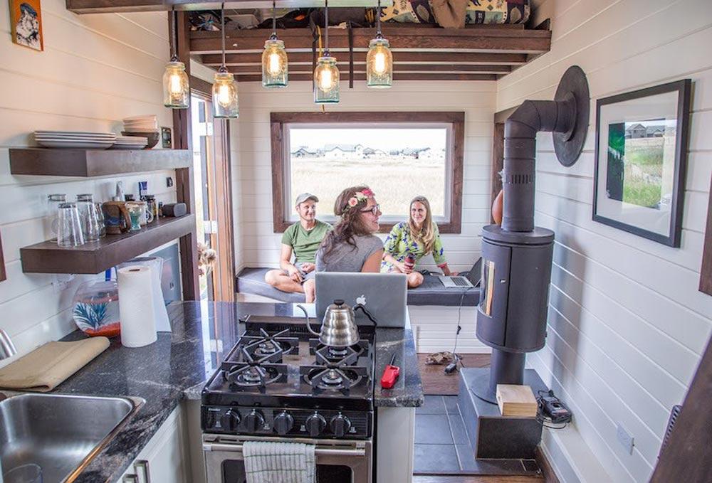 Kitchen   Bozeman Off Grid Tiny House