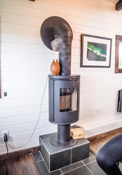 Wood Stove - Bozeman Off-Grid Tiny House
