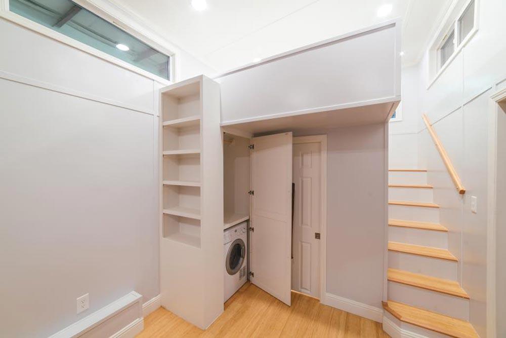 Bookcase & Closet - Custom Tiny by California Tiny House