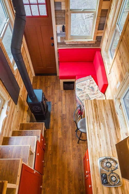 View From Loft - Davis' Off-Grid Tiny House by Mitchcraft Tiny Homes