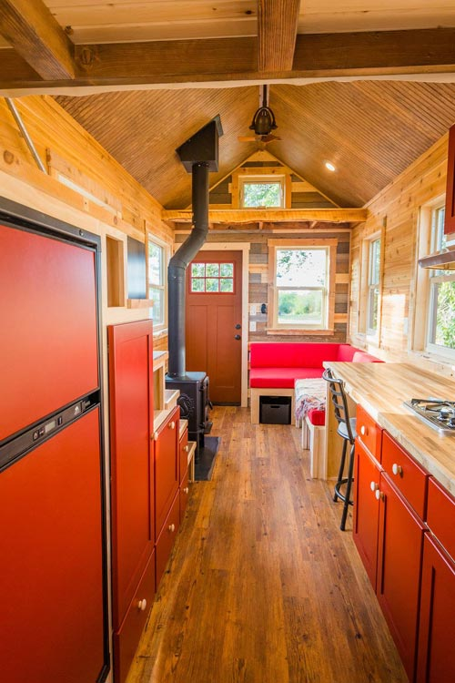 Galley Kitchen - Davis' Off-Grid Tiny House by Mitchcraft Tiny Homes