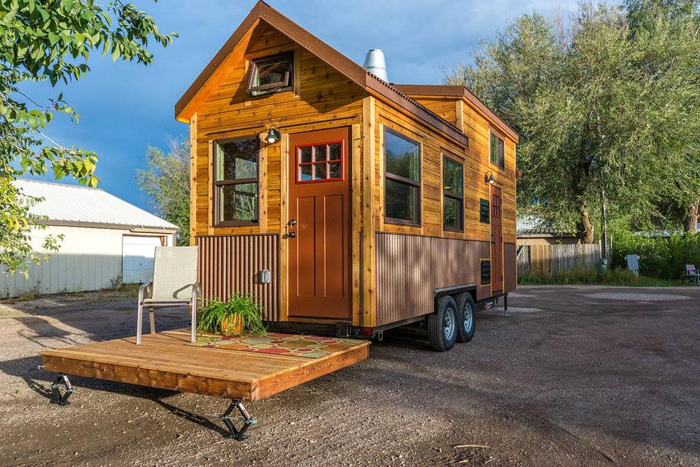 Fold Down Deck - Davis' Off-Grid Tiny House by Mitchcraft Tiny Homes