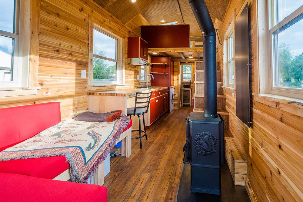 Interior View - Davis' Off-Grid Tiny House by Mitchcraft Tiny Homes