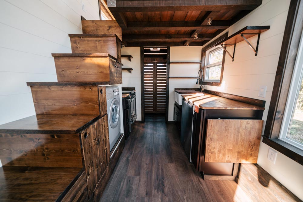 Kitchen & Stairs - Silhouette by Wind River Tiny Homes