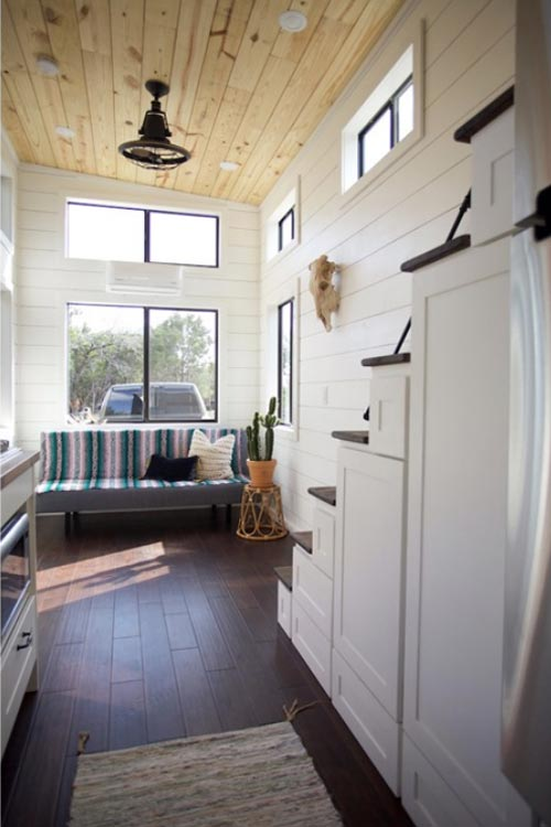 Storage Stairs - Texas Hill Country by Nomad Tiny Homes