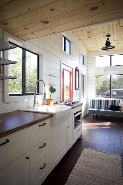 White Cabinets - Texas Hill Country by Nomad Tiny Homes