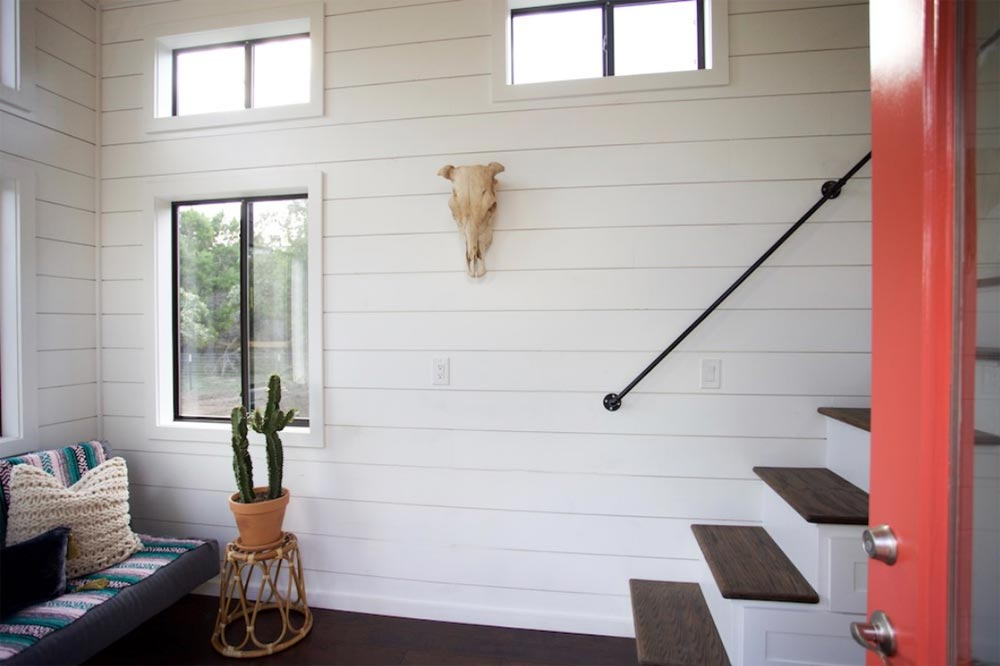 Pipe Handrail - Texas Hill Country by Nomad Tiny Homes