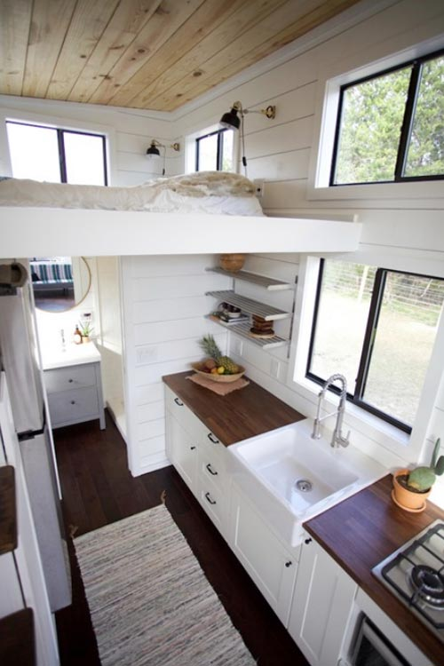 Kitchen & Loft - Texas Hill Country by Nomad Tiny Homes