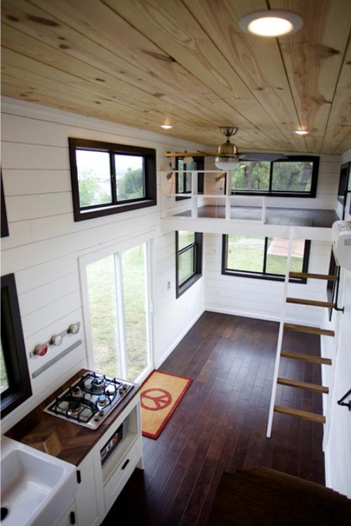 Birch Flooring - Texas Waterfront by Nomad Tiny Homes