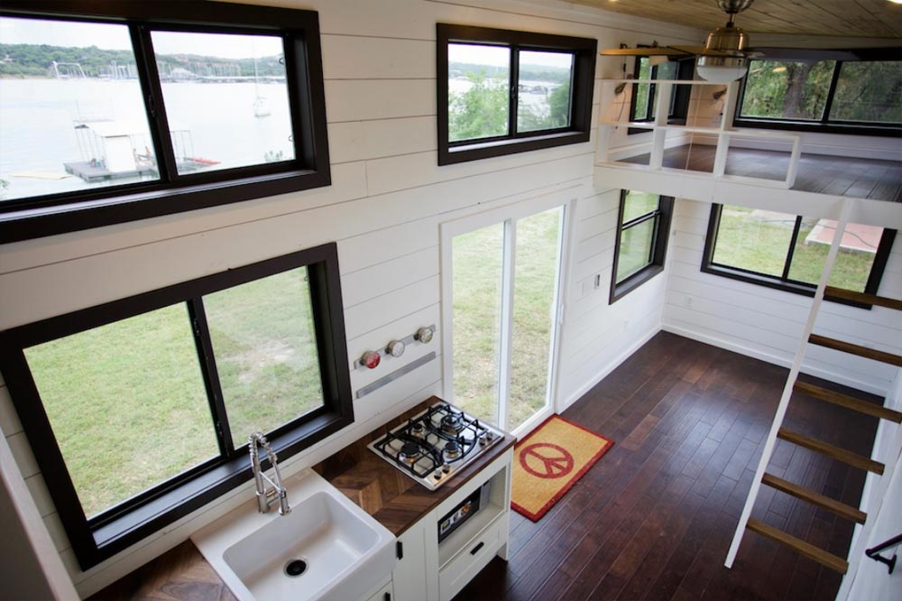 Kitchen & Living Room - Texas Waterfront by Nomad Tiny Homes