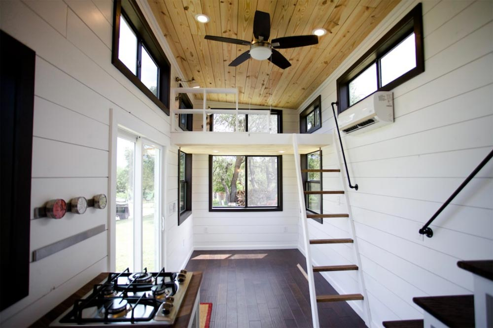 Living Room & Loft - Texas Waterfront by Nomad Tiny Homes