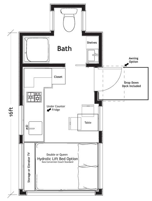 Floor Plan - Verve Lux by TruForm Tiny