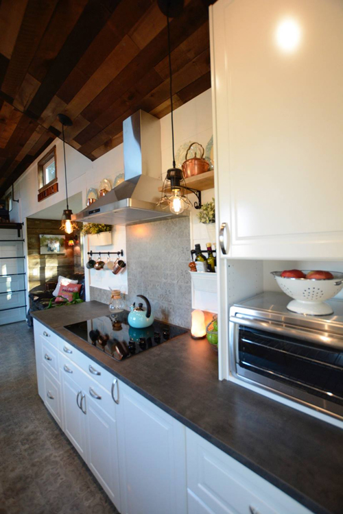 Electric Cooktop - Vintage Retreat by Hill Country Tiny Houses