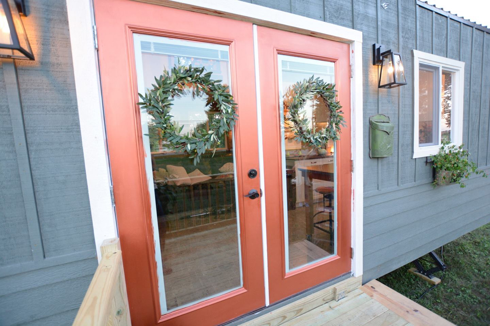 French Doors - Vintage Retreat by Hill Country Tiny Houses