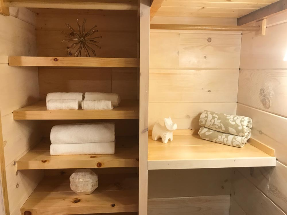 Bathroom Storage - California Red by Incredible Tiny Homes