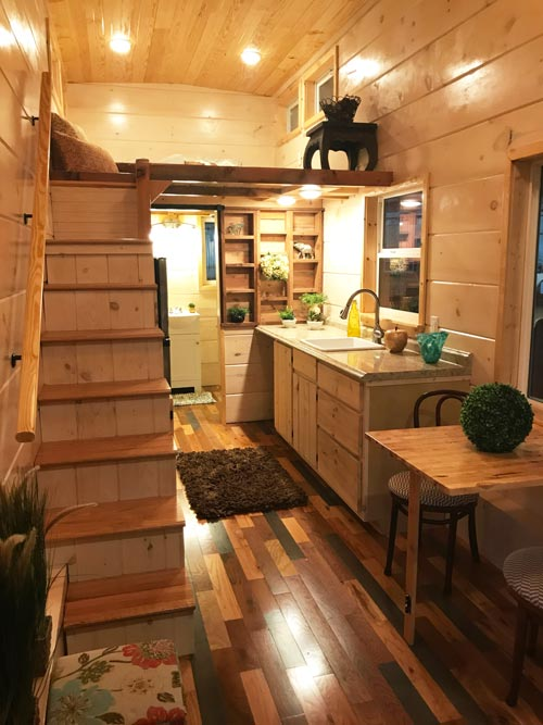 Kitchen & Loft - California Red by Incredible Tiny Homes