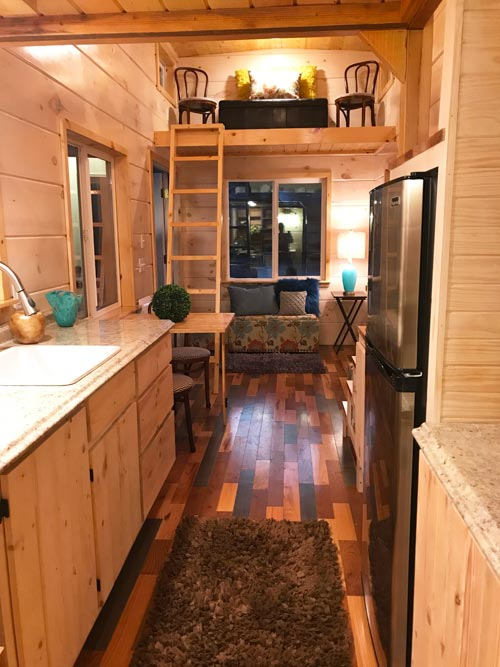 Galley Kitchen - California Red by Incredible Tiny Homes