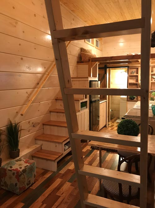 Ladder & Storage Stairs - California Red by Incredible Tiny Homes