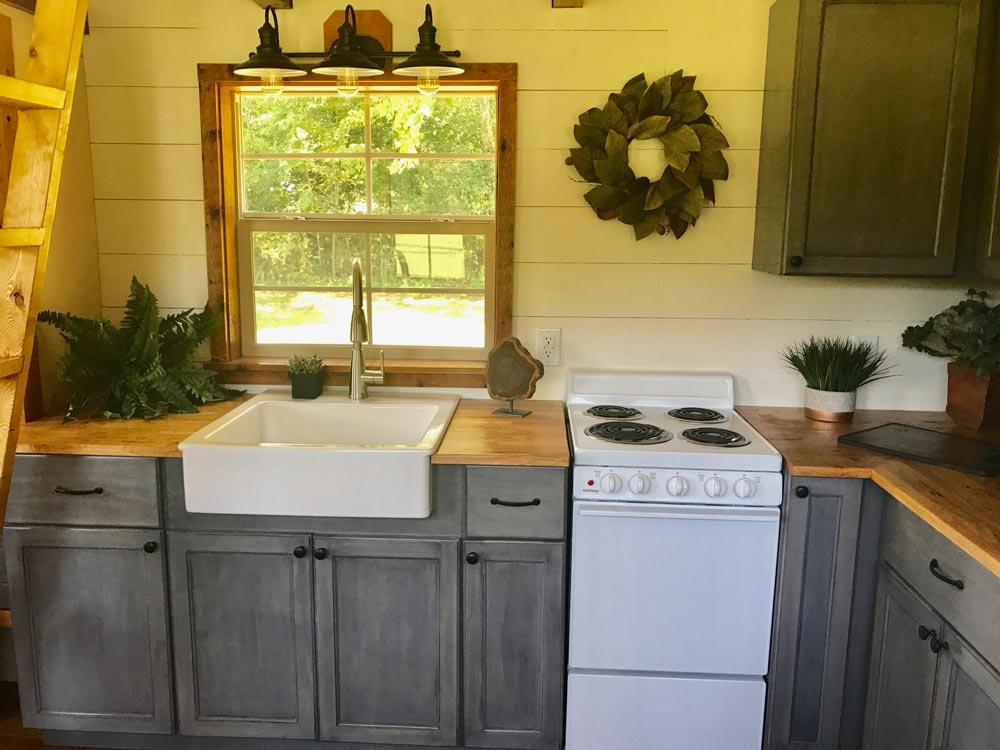 Gray Kitchen Cabinets - Highland by Incredible Tiny Homes