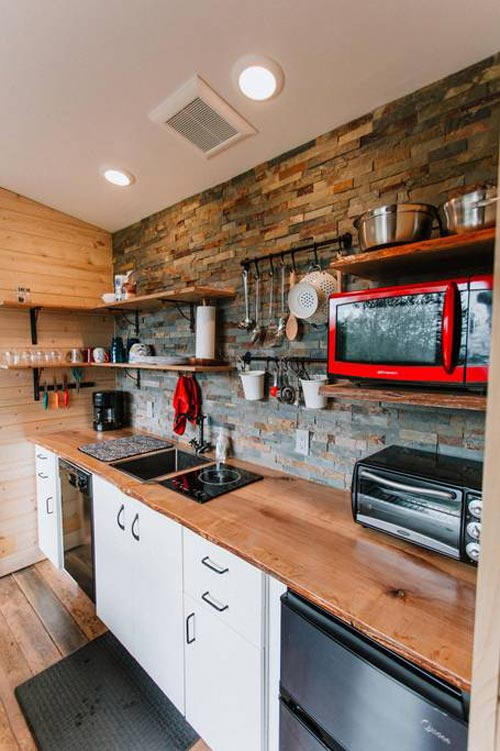 Kitchen - Mt Hood View Tiny House