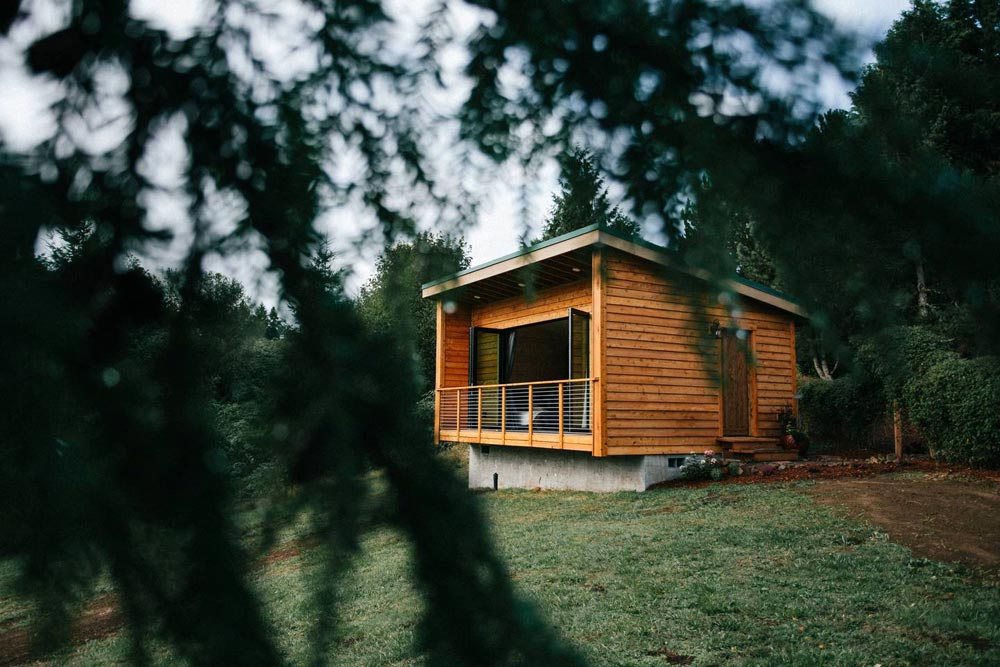 Natural Cedar Siding - Mt Hood View Tiny House