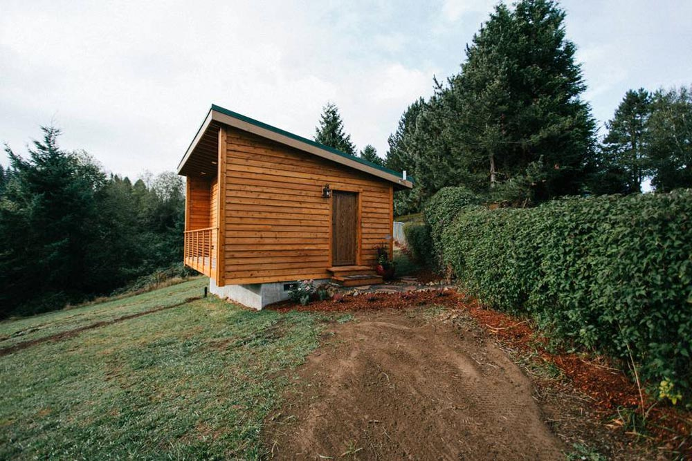 Shed Style Roof - Mt Hood View Tiny House