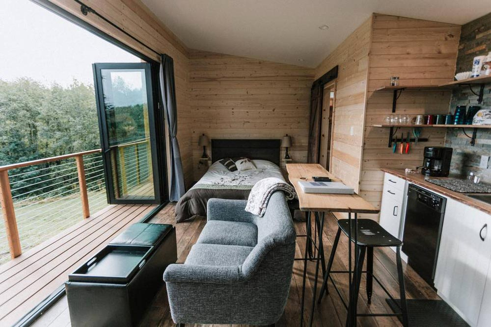 Living Area - Mt Hood View Tiny House