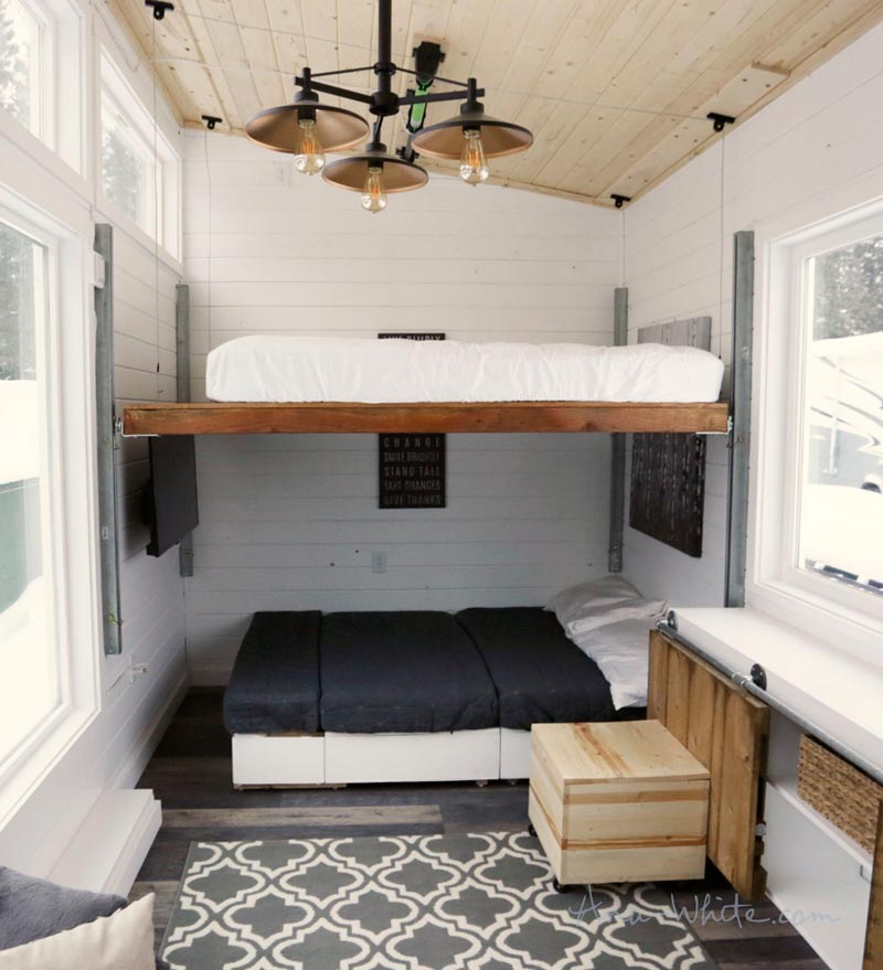Elevator Bed - Rustic Modern by Ana White