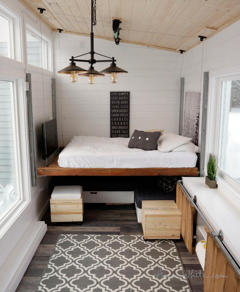 Bedroom Conversion - Rustic Modern by Ana White