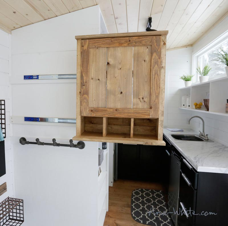 Sliding Cabinet - Rustic Modern by Ana White