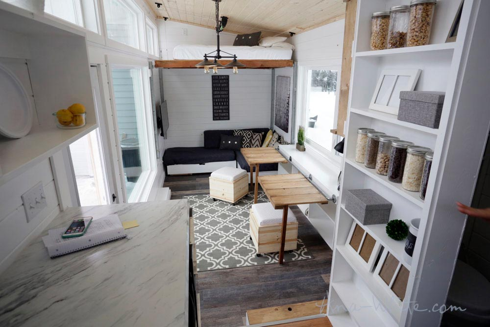 Tiny House Interior - Rustic Modern by Ana White