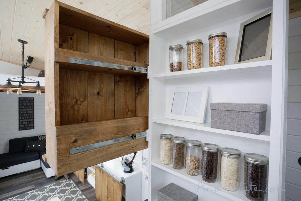 Slide-Out Cupboard - Rustic Modern by Ana White