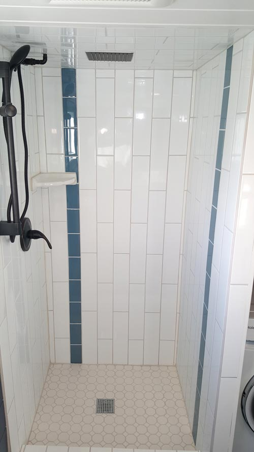 Tile Shower - Cape Cod by Alpine Tiny Homes