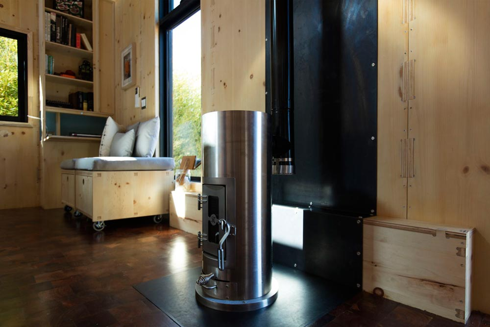 Kimberly Gasifier Wood Stove - SaltBox by Extraordinary Structures