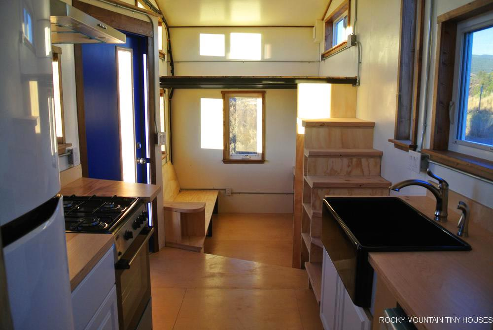 Kitchen & Living Room - Wanderlust by Rocky Mountain Tiny Houses