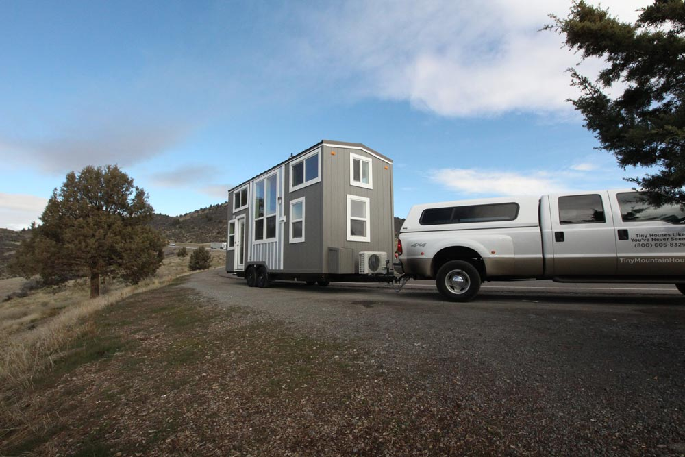 Towing Tiny Home - Chinook Peak by Tiny Mountain Houses