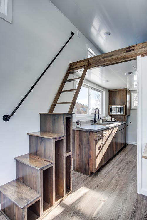 Stairs w/ Handrail - Cocoa by Modern Tiny Living
