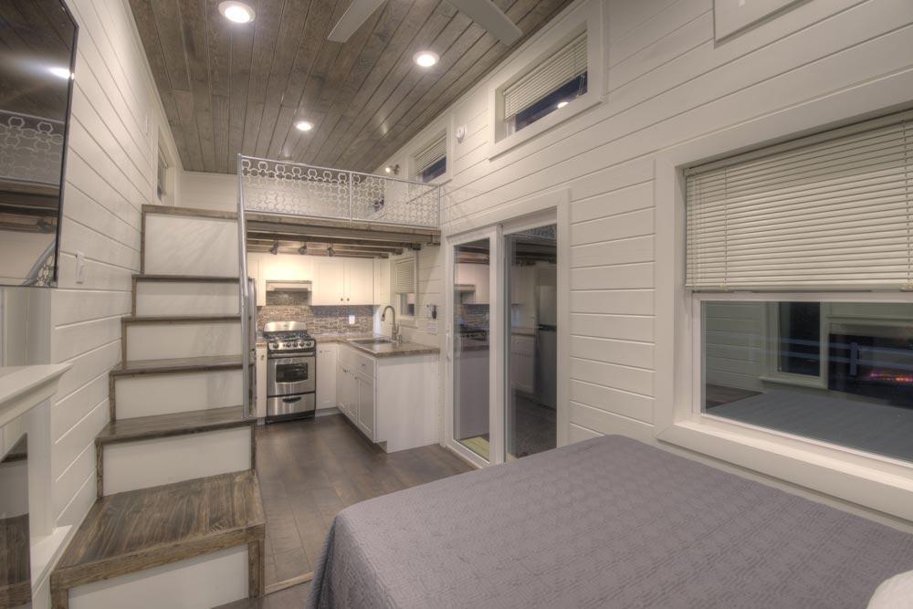 Kitchen & Loft - Freedom v2 by Alabama Tiny Homes