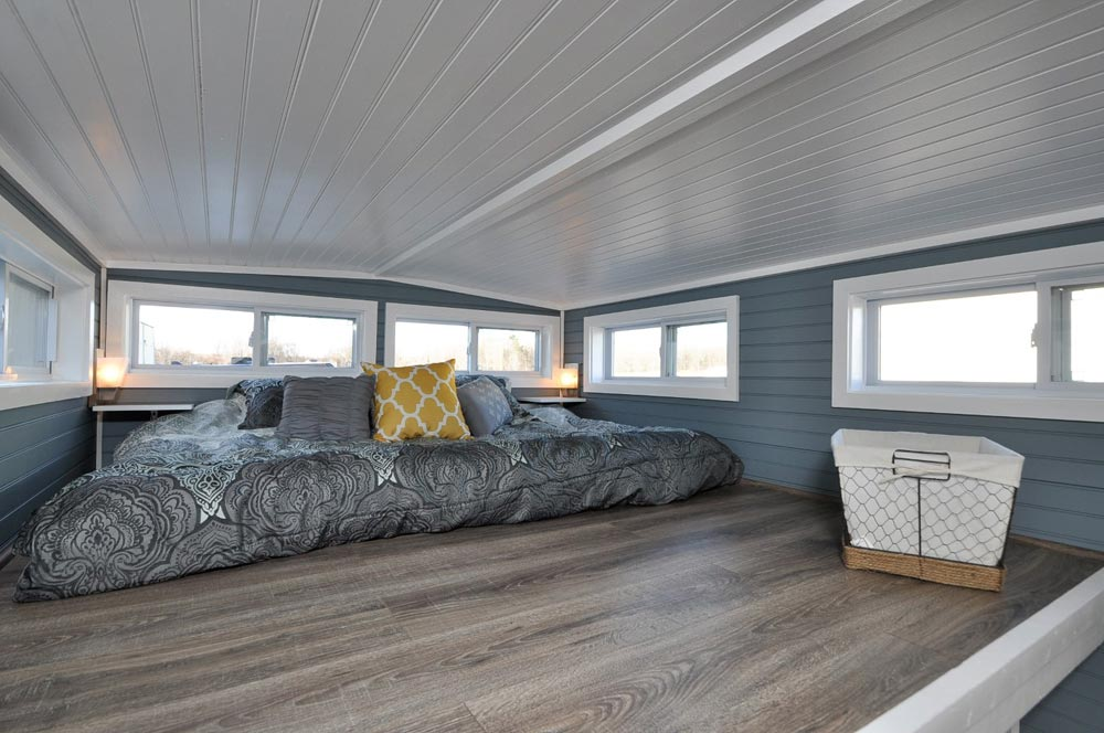 King Bedroom Loft - Laurel by Tiny House Building Company