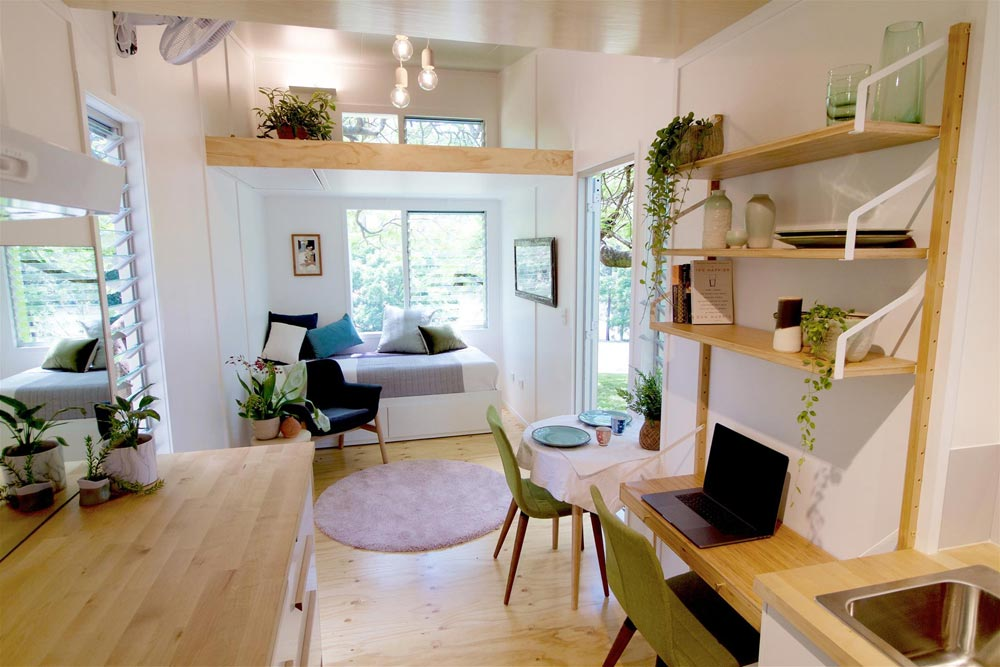 Desk & Shelves - Swallowtail by The Tiny House Company